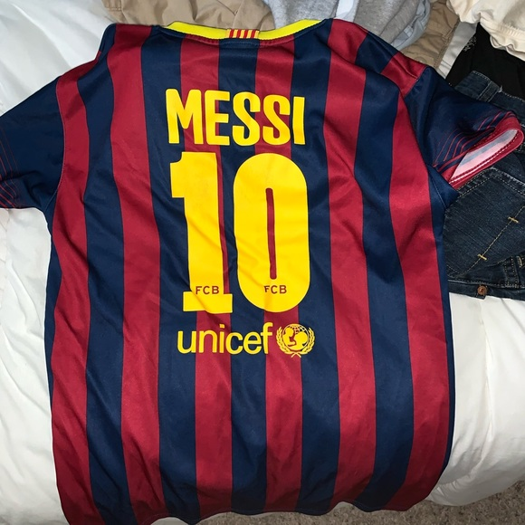 huge selection of aba9f 51bc9 FC Barcelona Messi Jersey
